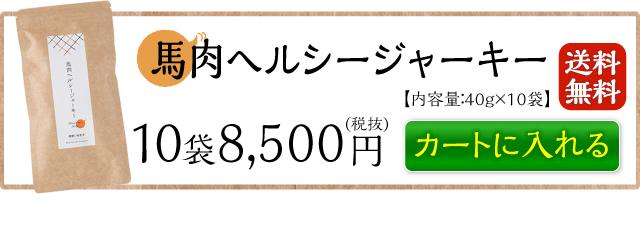 馬肉ヘルシージャーキー10袋送料無料8,500円 カートに入れる