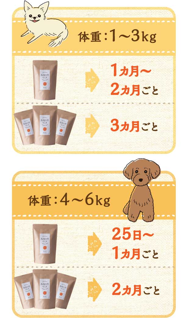 小型犬体重目安