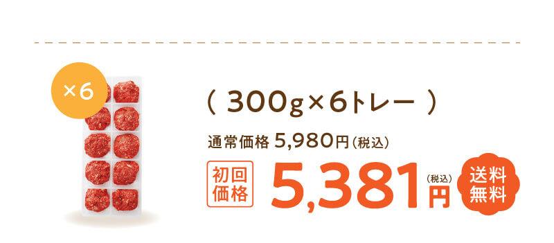 定期便「馬肉贅沢カップミンチ」300g×6トレー